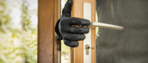 3 most common entry points for burglars