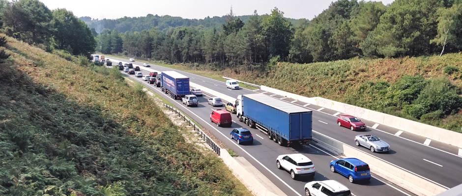 a338 bournemouth spur road roadwork traffic