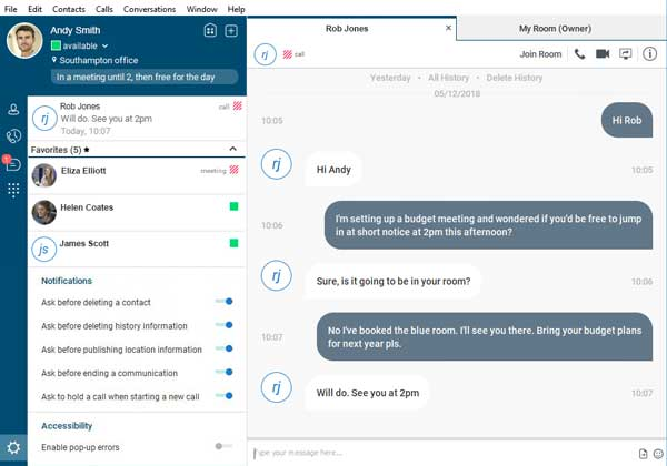Gamma collaborate chat experience